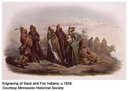 Engraving Sauk & Fox Indians circa 1839