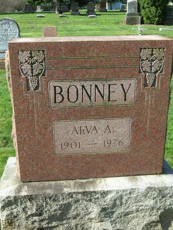Headstone of Alva Armstrong Bonney